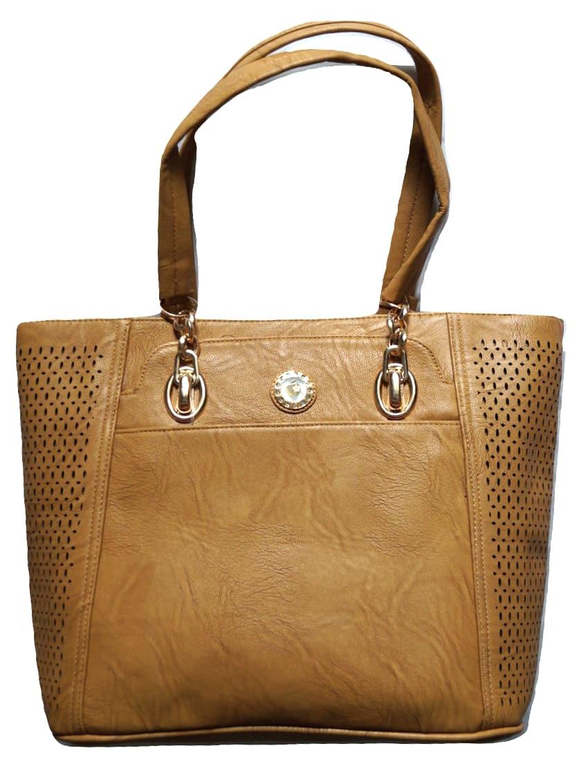 Handtasche Beige Damen für HenkeltascheKlassisch